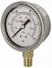 "Bottom Connection Dial Pressure Gauge ""Reed"" model AVNC-160PO-16"