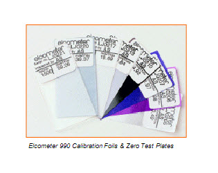 "Calibration Foil ""Elcometer"" Model 990 P/N T99049001"