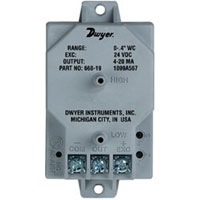 "COMPACT DIFFERENTIAL PRESSURE TRANSMITTER ""DWYER""  MODEL 668-9"