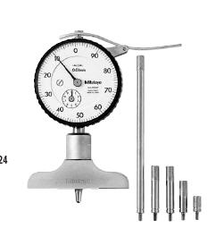 "Dial Depth Gauge ""Mitutoyo"" model  7211  Range 200 mm./0.01 mm"