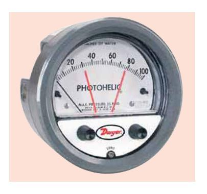 "Differential Pressure Gauge with low/high switch ""Dwyer"" M. 3000"