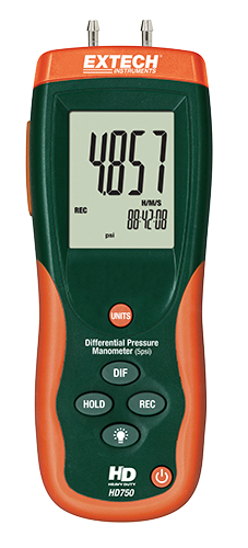 "Differential Pressure Manometer ""Extech"" Model HD750"