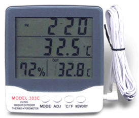 "Digital Hygro Thermometer ""NM"" model HY-303C"