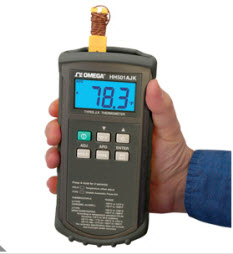 "Handheld Digital Thermometer ""Omega"" model HH503"
