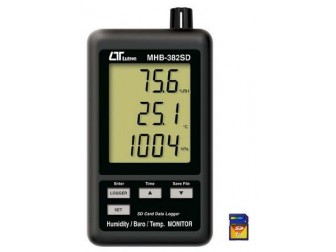 Humidity, Barometer & Temp. Display with Data Logger m.MHB-382SD
