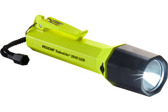 "LED Flashlight, Black or yellow ""Pelican "" model SabreLite 2010"