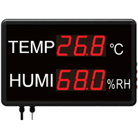 Large LED Temperature and Humidity Display with Data Logging