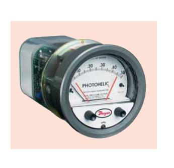"Photohelic Pressure Switch/Gage with integral transmitter ""Dwyer"