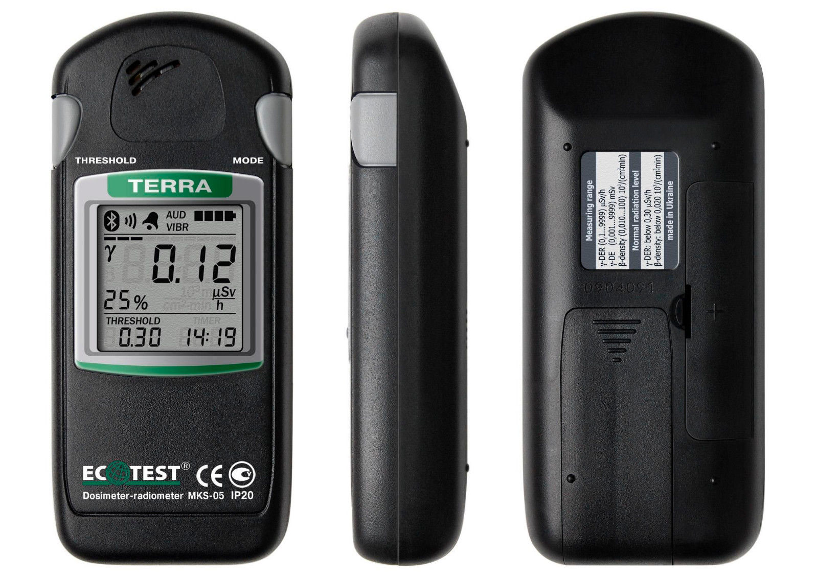 "Radiation Dosimeter ""Ecotest"" Model MKS-05"