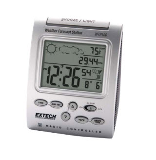 "Radio Controlled Wireless Clock with Weather Station ""Extech"" mo"