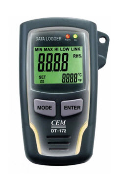 "Temperature and Humidity Data Logger ""CEM"" Model DT-172"